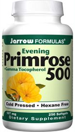 Primrose 500 plus Gamma Tocopherol (500 mg 250 softgels) Jarrow Formulas