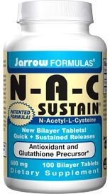 N-A-C Sustain (600 mg 100 tablets) Jarrow Formulas