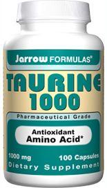 Taurine (1000 mg 100 capsules) Jarrow Formulas
