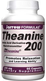 Theanine (200 mg 60 capsules) Jarrow Formulas