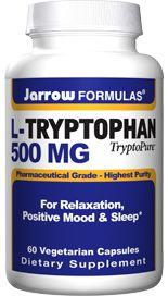 L-Tryptophan (500 mg 60 capsules) Jarrow Formulas
