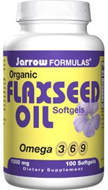Flaxseed Oil (1000 mg 100 softgels) Jarrow Formulas
