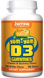 Yum-Yum D3 Gummies (400 IU  90 gummies) Jarrow Formulas