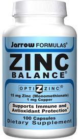 Zinc Balance (15 mg 100 capsules) Jarrow Formulas