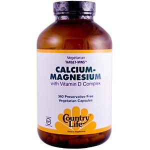 Calcium-Magnesium with Vitamin D Complex (360 vcaps) Country Life