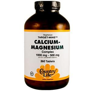 Vegetarian Calcium Magnesium Complex (360 tablets) Country Life