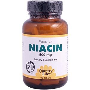 Niacin 500mg Tablets (90 tabs) Country Life