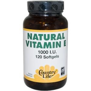 Natural Vitamin E (1000 IU 120 softgels) Country Life