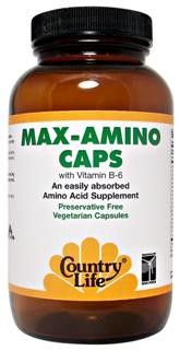 Max-Amino Caps with Vitamin B-6 (180 vcaps) Country Life