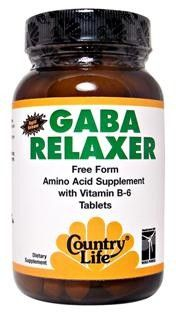 GABA Relaxer (60 tablets) Country Life