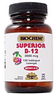 Superior B12 Sublingual (120 tablets) Country Life