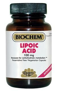 Lipoic Acid Vegetarian Capsules (100 mg 50 Caps) Country Life