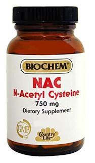 NAC N-Acetyl Cysteine 750mg (30 Capsule - Veg) Country Life
