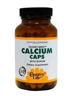 Calcium Caps with Boron (90 vcaps) Country Life