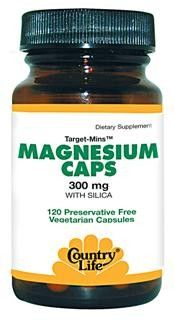 Target-Mins Magnesium 300mg (120 vcaps) Country Life