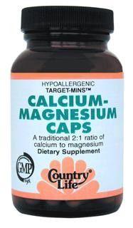Target-Mins Calcium Magnesium Caps (90 vcaps) Country Life