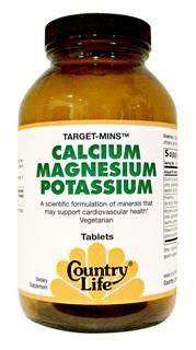 Target-Mins Calcium Magnesium Potassium (90 tablets) Country Life