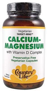 Calcium-Magnesium with Vitamin D Complex (120 vcaps) Country Life
