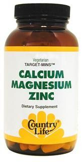 Target-Mins Calcium Magnesium Zinc (180 tablets) Country Life
