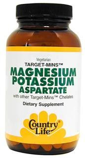 Magnesium Potassium Aspartate (180 tablets) Country Life
