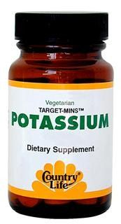 Target-Mins Potassium (99mg - 90 tablets) Country Life