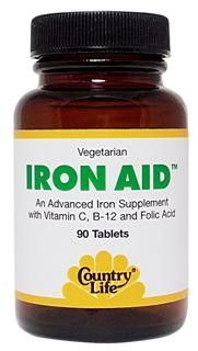 Iron-Aid (90 tablets) Country Life