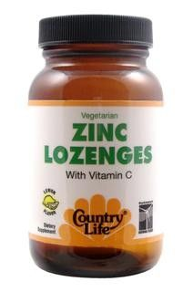 Zinc Lozenges with Vitamin C (Lemon - 120 tablets) Country Life
