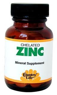 Chelated Zinc 50mg(100 tablets) Country Life
