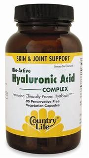 Bio-Active Hyaluronic Acid Complex (90 vcaps) Country Life