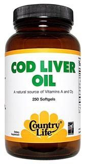 Cod Liver Oil C 100 (100 Softgel) Country Life