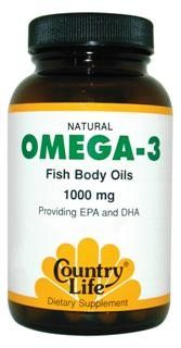 Omega-3 1000mg (100 Softgel) Country Life