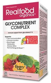 Glyconutrient Complex (60 v-caps) RealFood Organic by Country Life
