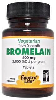 Triple Strength Bromelain (500mg 60 Tablet) Country Life