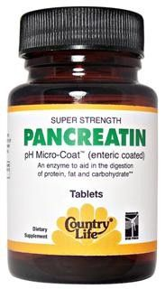 Pancreatin Super Strength(1400 mg 50 Tablet) Country Life