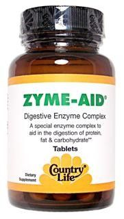 Zyme-Aid Digestive Complex (100 Tablet) Country Life