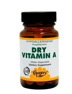 Dry Vitamin A (10,000 IU 100 Tablet) Country Life