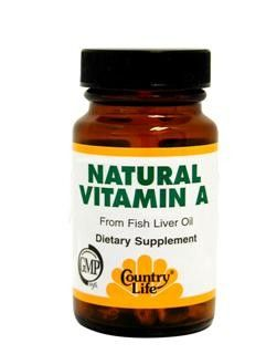 Natural Vitamin A (10,000 IU 100 Softgel) Country Life