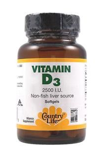 Vitamin D3, 2500 IU (60 Softgel) Country Life