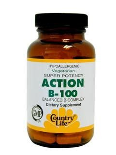 Action B-100 Super Potency (100 Tablet) Country Life