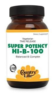 Super Potency Hi-B-100 Complex (100 Tablet) Country Life