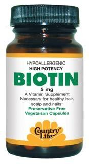 Biotin High Potency (5mg 60 vcaps) Country Life