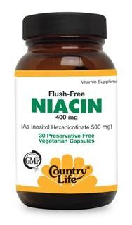 Flush Free Niacin 500mg (90 vcaps) Country Life