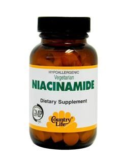 Niacinamide (500mg 100 tabs) Country Life
