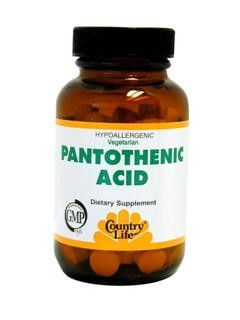 Pantothenic Acid Tablets (250mg 100 tabs) Country Life