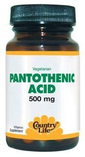 Pantothenic Acid Time Release Tablets (500 mg 60 tabs) Country Life