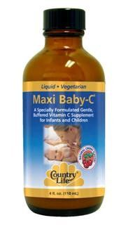 Maxi Baby-C Liquid Vitamin (4 oz) Country Life