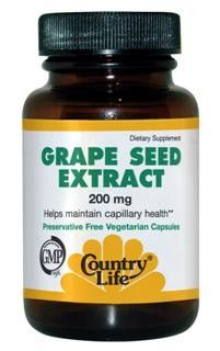 Grape Seed Extract (200 mg 30 vcaps) Country Life