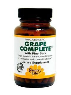 Grape Complete with Pine Bark (60 capsules) Country Life