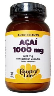 Acai 1000mg Capsules  (60 caps) Country Life