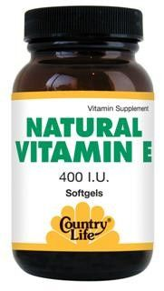 Natural Vitamin E, 1000 IU (180 softgel) Country Life